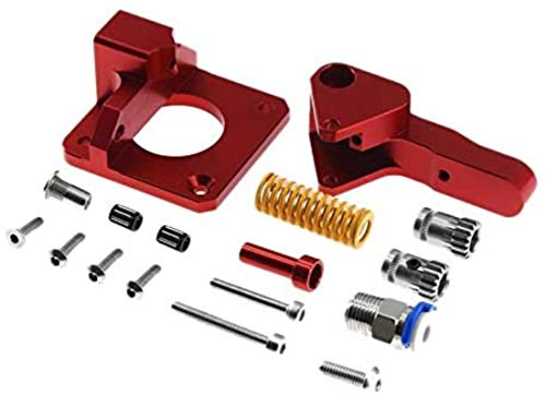 Printer Accessories Cr10 Pro Aluminum Upgrade Dual Gear Extruder Kit For Cr10S 1.75Mm Drive Feed Double Pulley Extruder Durable in use. (Color : Red)