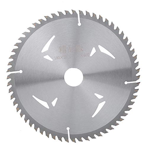 7 Zoll 60T Zähne Holzschneidscheibe, Innendurchmesser 25,4 mm Holzschneidwerkzeug Kreissägeblatt, für Haushaltsholzbearbeitungsmaschinen Elektrische Handsägen