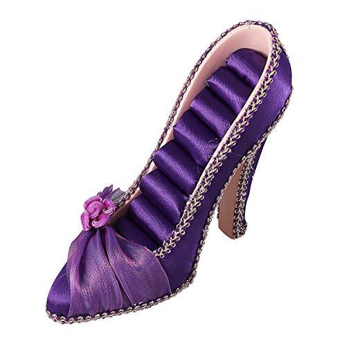 Fenical Schmuckständer Kreativ Hohe Schuhe Form Display Schmuckhalter Schmuckaufbewahrung Schmuck Organizer Home Deko (Lila)