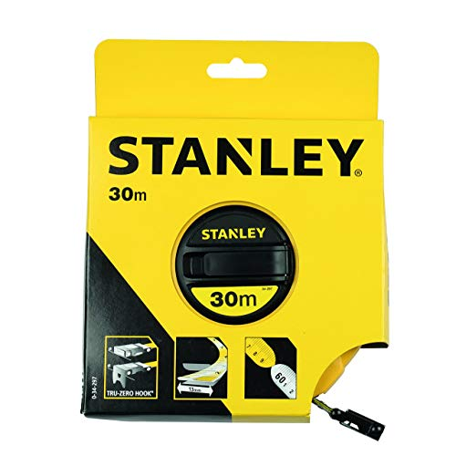 Stanley 0-34-297 Rotella Metrica, Nastro in Fibra di Vetro, 30 m