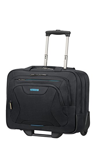 American Tourister At Work Rolling Tote Borsa pilota, 44 cm, 22 liters, Nero (Black)