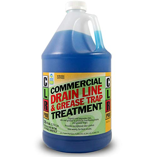 CLR - GRT-4PRO PRO Commercial Drain Line and Grease Trap Treatment, Preventative Maintenance Microbial Formula, 1 Gallon Bottle