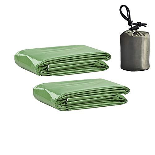 MARKOO Rettungsdecke, Rettungsdecke, Erste-Hilfe-Set, Camping, hält Folie, Mylar, lebensrett, warm, wärmeisolierend, für den Außenbereich, Grün, grün
