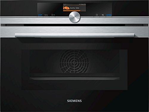 Four encastrable EcoClean Siemens CM656GBS1 - Four multifonction Chaleur tournante + Micro ondes / 45 litres / Inox / hauteur 45 cm