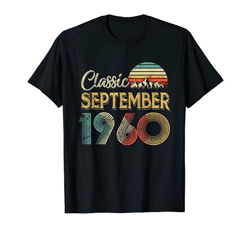 Retro Vintage SEPTIEMBRE 1960 Regalo de 60 cumpleaños para hombres y mujeres Camiseta