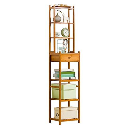 BXU-BG Estantería para estanterías, estanterías, estanterías de cocina, para dormitorio, estante de almacenamiento de zapatos, con cajón de regalo (color marrón, tamaño: 28 x 33 x 163 cm)