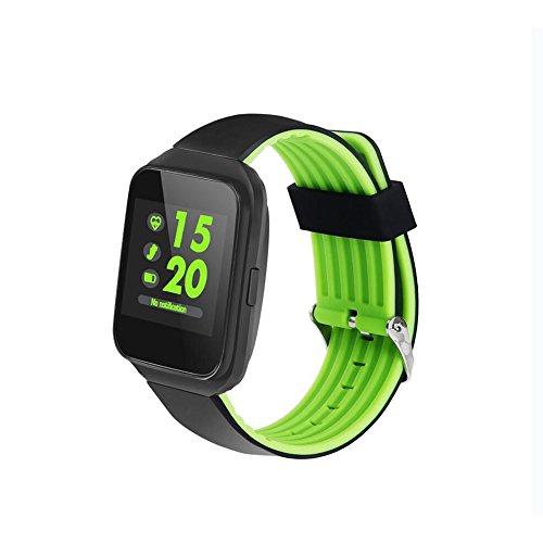 Lirong Fitnesstracker met hartslagmeter, HD, rond display, voor gezonde, bloeddruk, slaapherkenning, bluetooth, sport, stappenteller, voor Android en iOS