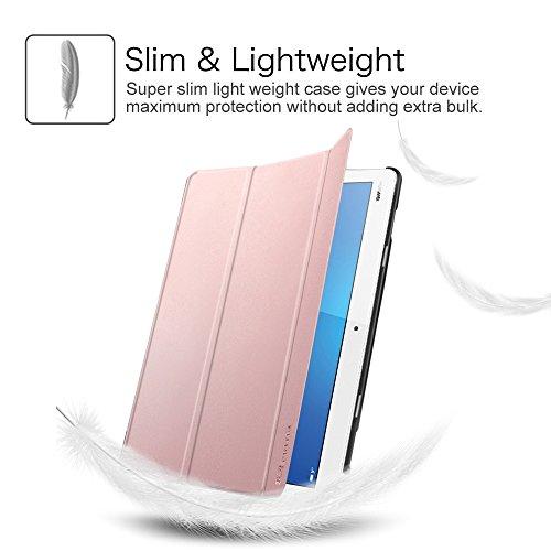 Fintie Huawei Mediapad M3 Lite 10 Hülle - Ultra Dünn Superleicht SlimShell Case Cover Schutzhülle Etui Tasche mit Zwei Einstellbarem Standfunktion für Huawei Mediapad M3 Lite 10 Zoll, Roségold - 5