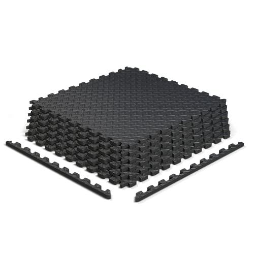 """Epic Fitness EVA Foam Interlocking Exercise Gym Floor Mat Tiles, 1/2"""" Thick 24 Square Feet - Pack of 6 Tiles"""