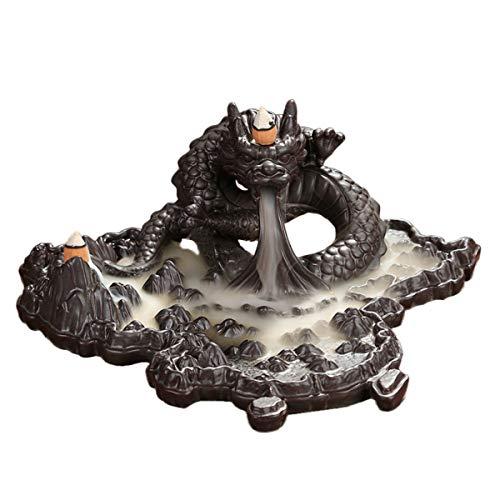 Wierookvat Wierookhouder Terugstromen Wierookbrander Chinese Decoratie Keramiek Draken Ornamenten Lang 28cm Interieurdecoratie