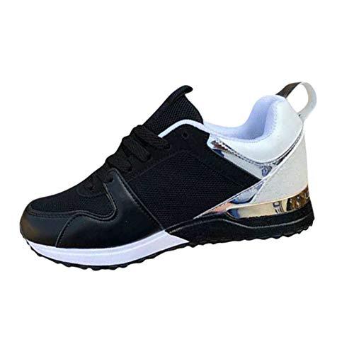 Togethor Zapatos casuales retro para mujer, de malla transpirable, zapatos de seguridad, zapatos de trabajo, ligeros, para mujer, Negro, 7 UK