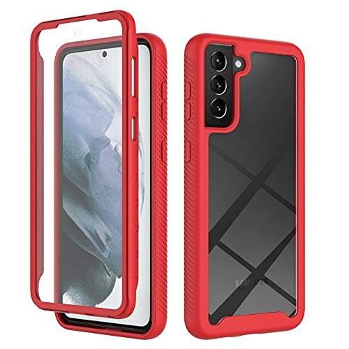 Designed for Samsung Galaxy S21 Plus Case Built in Screen Protector,Full Body Dual Layer Rugged Bumper Hard Platic Heavy Drop Protective Dustproof Anti-Drop Shockproof Soft Cover for Galaxy S21+