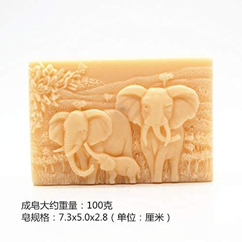Groothandel Diy ambacht handgemaakte zeep schimmel zeep maken schimmel voedsel kwaliteit siliconen Afrikaanse olifant patroon vierkante vorm