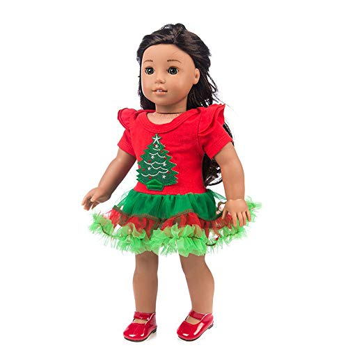 Fineday Chirstmas Clothes Dress for 18 Inch American Boy Doll Accessory Girl Toy, Toys and Hobbies (Red)