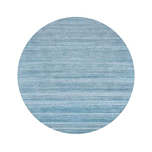 Preisvergleich Produktbild MU Home Wohnzimmer Eingang Nachttisch Teppich-Kreativ Moderner runder Teppich Einfachheit im europäischen Stil Wohnzimmer Schlafzimmer Rutschfester,  abriebfester Teppichkorb Drehstuhl Teppich, Su Blue