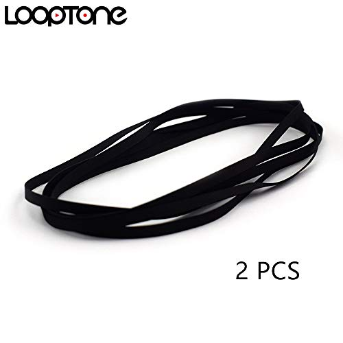 LoopTone 2PCS Turntable Belt Replacement for Retro Vinyl Record Player Fit for all kinds of Belt-driven Turntables