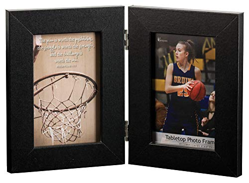 Dicksons Pain is Worth Possibilities Bilderrahmen mit Basketball-Motiv, 30,5 x 20,3 cm, MDF, Braun
