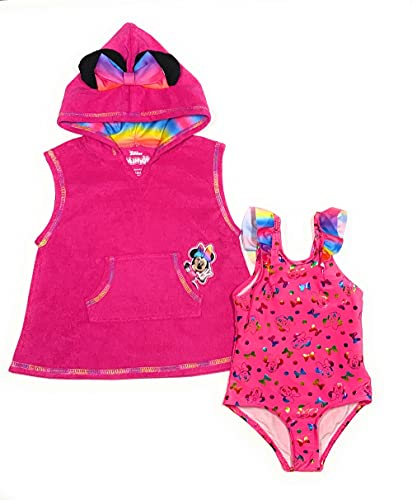 Minnie Mouse Baby Girls Swimsuit and Cover-Up Sets (18 Months) Pink