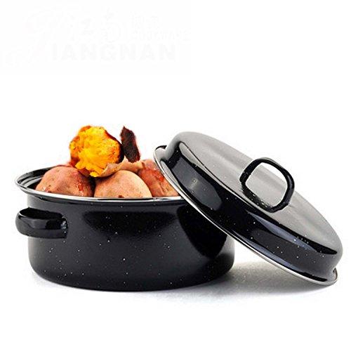 NANXCYR BBQ Pot Koreaanse Stijl Multifunctionele Huishoudelijke Rookvrije Grill Pot Gebakken Zoete Aardappel Barbecue Saus Anti-aanbak BBQ Gegrilde Aardappel Pot Keuken