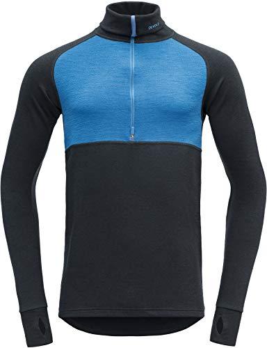 Devold Expedition Sweat-Shirt Col roulé avec Zip Homme, Skydiver/Ink Modèle XL 2019 sous-vêtement