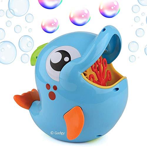 Gadgy Seifenblasenmaschine Delfin für Kinder und Draußen | Bubble Blower Machine Dolphin | mit 236 ml. Seifenblasenlosung | Batteriebetrieben