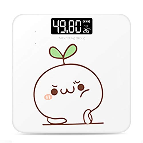 USB Charging Mini Electronic Scale, Accurate Weighing Body Scale, Household Electronic Scale, Health Scale, Gift Customization (Color : A, Size : Battery Models)