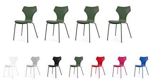 Tenzo 0601-031 Lolly 4er-Set Designer Stühle Holz