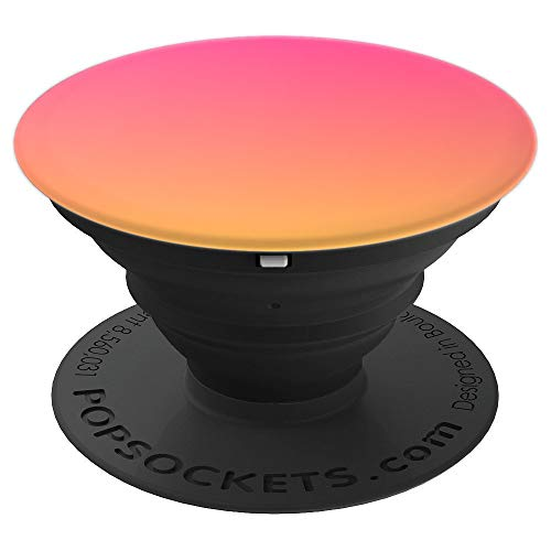 Orange and Pink Ombre Fade Hot Pink Gradient Accessory Gift PopSockets Grip and Stand for Phones and Tablets