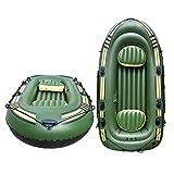 Barca Hinchable, Bote De Pesca En Kayak, Bote Para 4 Personas, Bote Explorador Inflable Con Bomba De Paleta Y Pie Y Cuerda De Seguridad Y Otros Accesorios, Capacidad De Peso 300 / 400KG, 265x130x46cm
