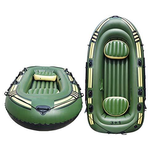 Househome - Barco neumático, barco de goma, barco de amanecer, doble PVC, barco neumático con 2 remos, bomba de pie y kit de reparación