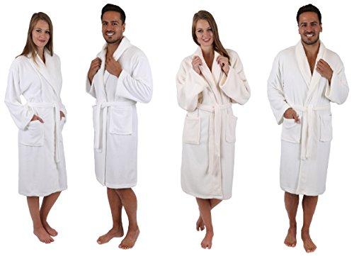 Betz Bademantel Morgenmantel Ibiza Unisex Wellness- Hotel- Bademäntel mit Schalkragen Farbe beige Größe L/XL