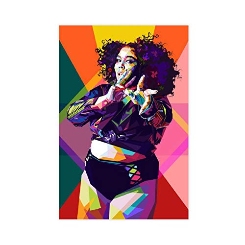 Sänger Lizzo Star Poster 3 Leinwand Poster Schlafzimmer Dekor Sport Landschaft Büro Raumdekor Geschenk ungerahmter Stil 40 × 60 cm