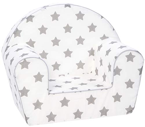KNORRTOYS.COM 68344 Knorrtoys 68344-Kindersessel-Stars Grey Kindersessel