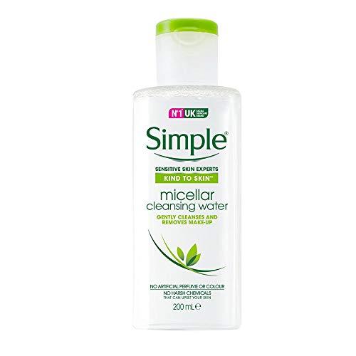 Simple Gezichtswater, voor dagelijks gebruik zuiver micelwater bijzonder zachte reiniging, 200 ml