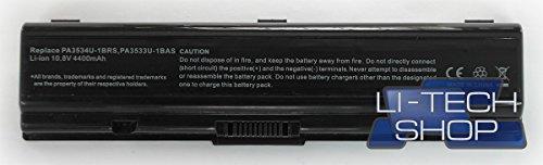 LI-TECH Batería compatible para Toshiba Satellite SL L500-1V9 SL5001V9 Notebook 4400 mAh