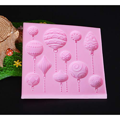 ZZYOU Easter Egg Balloon Silicone Fudge 3D Cake Mold Cake Jelly Candy Chocolate Decoration Baking Tool