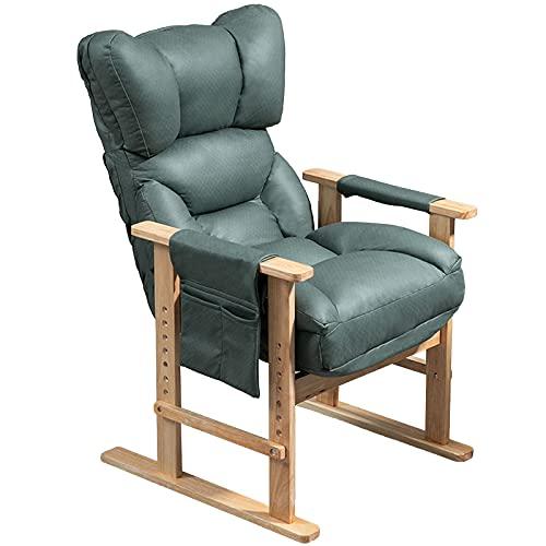Relaxsessel, Computerstuhl, Bürostuhl, Gaming-Stuhl, Schreibtischstühle, Arm-Lounge, Rückenlehne verstellbar, bequem, Lazyboy, klein, für Wohnzimmer, Schlafzimmer, Dunkelgrün