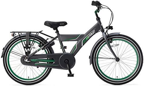 POPAL 22 Zoll Kinder Fahrrad Funjet X 22378 3 Gang, Farbe:grau-grün