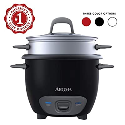 Aroma Arc Rice Cooker and Food Steamer, 3-Cup (Uncooked) 6-Cup (Cooked)