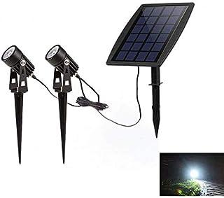 Headlamp,Head Torch,WO NICE Solar Spotlights IP65 Waterproof 270° Angle Adjustabl 2 White Dual Spot Headlamp,Head Torch, G...