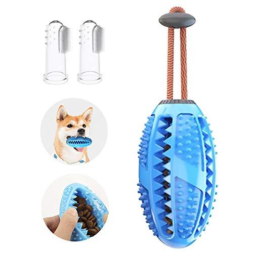CVOZO Bola de Juguete para Perros, 1 Pieza de Juguete para Masticar y 2 cepillos de Dientes para Mascotas, Ayuda a Limpiar los Dientes del Perro (Perros pequeños y medianos)