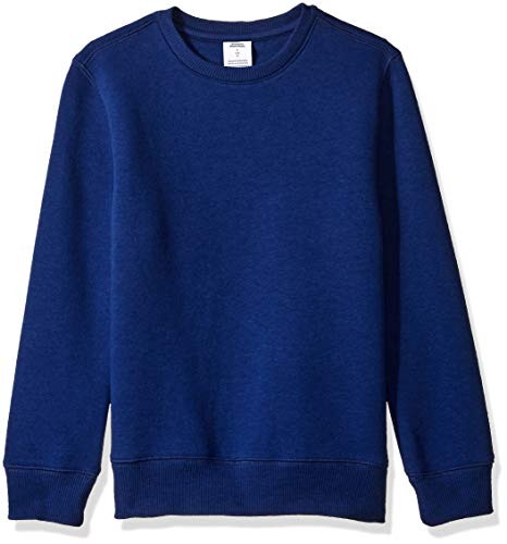 Amazon Essentials Crew Neck Sweatshirt, Navy, S (6-7)