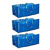 3 x IKEA FRAKTA Borsa portatutto blu 76 litri