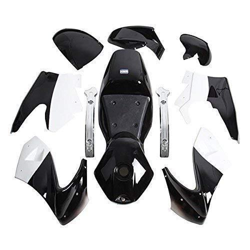 HMParts Pocket Bike Verkleidung Set komplett schwarz/Weiss