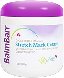 Balm Barr Stretch Mark Cocoa Butter Massage Creme - 6 Oz (Pack of 1)