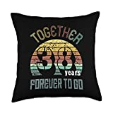 Best Marriage Anniversary Gifts - Family Apparel 38th Years Wedding Anniversary Gifts For Couples Matching 38 Throw Pillow, 18x18, Multicolor