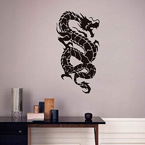Oosterse Draak Muurstickers voor Kinderkamers Muurdecoratie Vinyl Art Muursticker Verwijderbare Behang Woondecoratie Accessoires 112 * 58cm