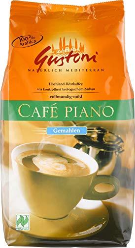 Gustoni Bio Café piano, natürlich-, mild gemahlen (1 x 500 gr)