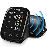 HOMIEE Upper Arm Blood Pressure Monitor, Largest Backlit Display Automatic Blood Pressure Machine, 1-Touch Operation Voice Broadcast Accurate Adjustable BP Cuff Digital Blood Pressure Device for Home
