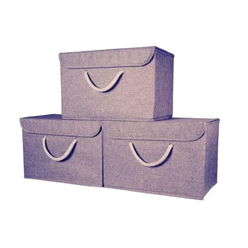 Magenta Magpie Aufbewahrungsbox mit Deckel. Stabiler Griff - Verbesserte sichere Verbindung - Geeignet für Kleidung, Accessoires, Zeitschriften, Souvenirs, Spielzeug. Für alle Räume (seilgriff, 3)
